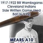 "1917-1922 Bill Wambsganss Cleveland Indians H&B Louisville Slugger Professional Model Game Used Side Written (6-3-22) Game Used Bat (MEARS A10) ""Famous For His Unassisted World Series Triple Play"""