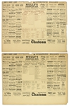 "1946 St. Louis Cardinals Boston Red Sox World Series Game 4 Box Score Printed on 14"" x 18"" Placemat"