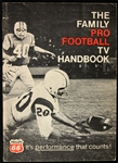 1968 Phlipps 66 Pro Football TV Handbook