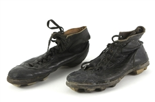 1920s Game Worn High Top Football Boots (MEARS LOA)