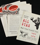 1947-59 Wisconsin High School All Star Game Football Program & Alumnus Football Bulletin - Lot of 6