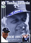 Tommy Lasorda 2x Signed Hall of Fame Icon 5x7 Postcard, Los Angeles Dodgers (JSA)