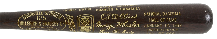 1939 MLB Hall of Fame Induction Class H&B Louisville Slugger Commemorative Bat 446/500