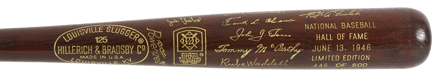 1946 MLB Hall of Fame Induction Class Louisville Slugger Commemorative Bat 446/500