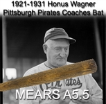 1921-31 Honus Wagner Post Career H&B Louisville Slugger Professional Model Bat (MEARS A5.5 & PSA/DNA)