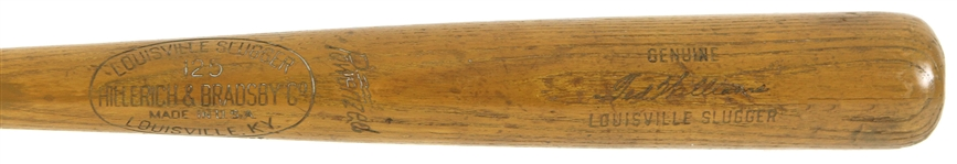 1950-60 Ted Williams Boston Red Sox H&B Louisville Slugger Professional Model Team Index Bat (MEARS A5 & PSA/DNA)