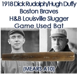 1918 Dick Rudolph/Hugh Duffy Boston Braves H&B Louisville Slugger Professional Model Bat (MEARS A10)