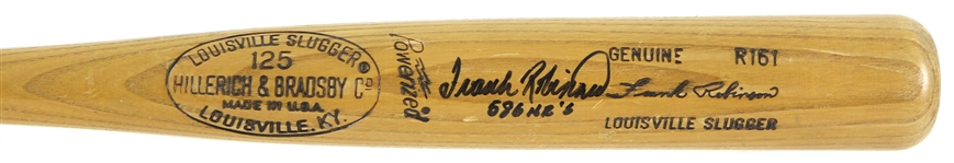 1977-79 Frank Robinson Signed H&B Louisville Slugger Professional Model Post Career/Coaches Bat (MEARS A7/JSA & PSA/DNA)