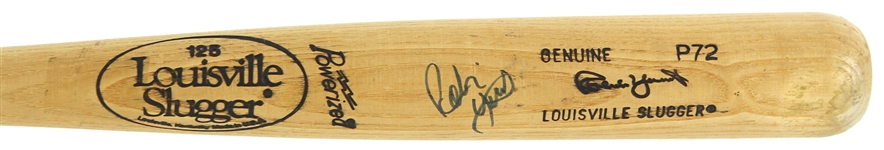 1986-89 Robin Yount Milwaukee Brewers Signed Louisville Slugger Professional Model Bat (MEARS A5/JSA)
