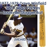 1977-79 Dave Winfield San Diego Padres Signed H&B Louisville Slugger Professional Model Bat (MEARS A8/JSA)