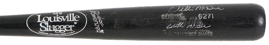 1991-94 Willie McGee San Francisco Giants Signed Louisville Slugger Professional Model Game Used Bat (MEARS LOA/JSA)