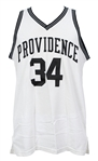 1993-94 Michael Smith Providence Friars Game Worn Home Jersey & Male Athlete of the Year Plaque (MEARS LOA)
