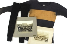 1916-17 Jack Markweiss Marquette Academy High School Football Memorabilia Collection - Lot of 4 w/ Matted Studio Photos, Game Worn Burghardt Athletic Goods Football Jersey & Socks (MEARS LOA)