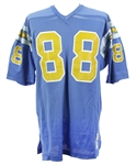 1971-73 Pettis Norman San Diego Chargers Game Worn Home Jersey (MEARS LOA)