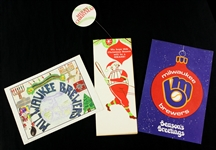 1970s-90s Milwaukee Brewers Christmas Card Collection - Lot of 3 w/ 1970 Inaugural Season & More