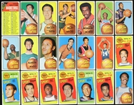 1969-71 Topps Basketball Trading Cards - Lot of 56 w/ Lew Alcindor Rookie, Pete Maravich Rookie, Wilt Chamberlain, Oscar Robertson & More