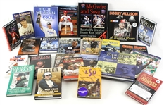 1990s-2000s Baseball Football Basketball Signed Book Collection - Lot of 24 w/ Lou Boudreau, Roger Craig, Bobby Allison, Tito Santana, Dick Van Arsdale & More)