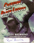 1954 Ricou Browning Creature from the Black Lagoon (depicting Creature underwater) Signed LE 16x20 Color Photo (JSA)