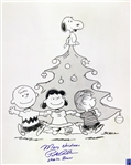 1965 Peter Robbins Charlie Brown Christmas Signed LE 16x20 B&W Photo (JSA)
