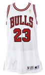 1996-97 Michael Jordan Chicago Bulls Signed Home Jersey (MEARS A5/JSA)