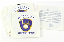 "1980 Milwaukee Brewers Brewer Fever 7"" Vinyl Record (Lot of 8)"