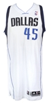 2013-14 DuJuan Blair Dallas Mavericks Game Worn Home Jersey (MEARS LOA)
