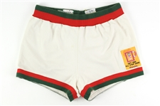 1976-77 Lloyd Walton Milwaukee Bucks Game Used Home Shorts w/ 1977 All-Star Game Patch (MEARS LOA)