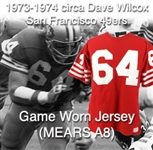 1973-1974 circa Dave Wilcox San Francisco 49ers Game Worn Home Jersey (MEARS A10)