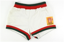 1976-77 Rowland Garrett Milwaukee Bucks Game Used Home Shorts w/ 1977 All-Star Game Patch (MEARS LOA)