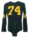 1954-1955 circa Green Bay Packers Style Jersey