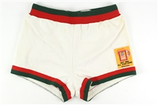 1976-77 Milwaukee Bucks#42 Game Used Home Shorts w/ 1977 All-Star Game Patch (MEARS LOA)