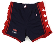 1996 Team USA Olympic Basketball Road Game Shorts Attributed to Anfernee Penny Hardaway (MEARS LOA)