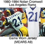 1980-1984 Nolan Cromwell Los Angeles Rams Road Game Worn Jersey (MEARS A9)