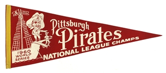"1960's Pittsburgh Pirates National League Champs Red 29"" Pennant"
