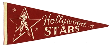 "1950s PCL Vintage Hollywood Stars Red 29"" Pennant"