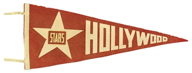 "1940s PCL Vintage Hollywood Stars Red 26"" Pennant"
