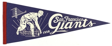 "1958-1960s Vintage San Francisco Giants 29"" Pennant"