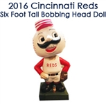 2016 Cincinnati Reds Six Foot Tall Bobbing Head Doll Nodder (EX- Reds Museum)