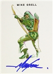 Mike Grell American Comic Artist Signed LE Trading Card (JSA)