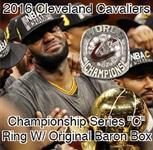 "2016 Cleveland Cavaliers Championship Series ""C"" Ring W/ Original Baron Box"