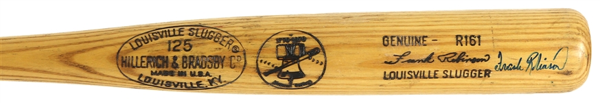 1976 Frank Robinson Cleveland Indians Signed H&B Louisville Slugger Professional Model Game Used Bat (MEARS A8/JSA)