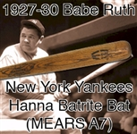 "1927-1930 Babe Ruth New York Yankees Hanna Batrite Bat Wing Professional Model Bat (MEARS A7) ""Grandpa's Pride & Joy)"