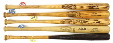 1960's – 1970's Professional Model Game Used bat Collection Lot of 5 w/ and more (MEARS LOA / JSA)