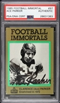1985 Football Immortal Ace Parker Slabbed Card  (PSA/DNA)