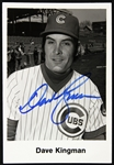 "Chicago Cubs Dave Kingman Signed 5""x 3.5"" Black & White Photo (JSA)"