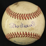 1949 (October 1st) Stan Musial St. Louis Cardinals Signed ONL Frick Wrigley Field Game Used Baseball (MEARS LOA/SJSA)