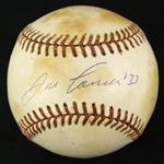 1985-89 Jose Canseco Oakland Athletics Signed OAL Brown Game Used Baseball (MEARS LOA/JSA)