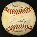1978-81 Paul Molitor Milwaukee Brewers Signed OAL MacPhail County Stadium Game Used Baseball (MEARS LOA/JSA)