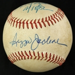 1982 Reggie Jackson California Angels Signed & Inscribed OAL MacPhail Game Used Baseball (MEARS LOA/JSA)