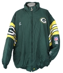 1996 Sean Jones Green Bay Packers Game Worn Sideline Jacket (MEARS LOA)